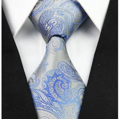 78bc6fe7b1e Hedvábná kravata kašmírová šedá NT0262 - Wemay