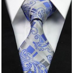 Hedvábná kravata kašmírová šedá NT0267
