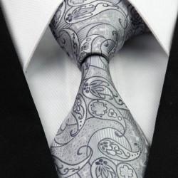 Hodvábna kravata strieborná NT0264