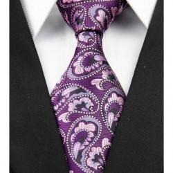 Hodvábna kravata fialová NT0212