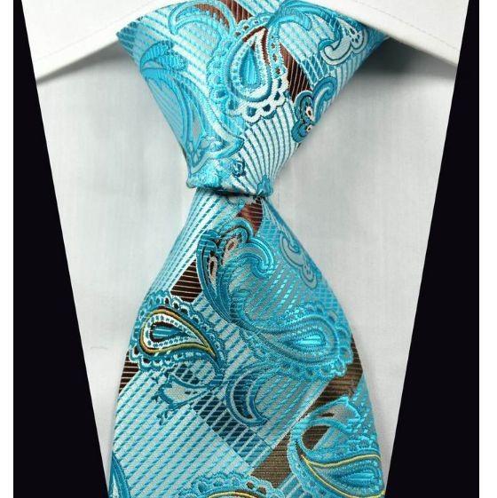 7f27f6db501 Hedvábná kravata kašmírová modrá NT0363 - Wemay