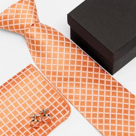 Dárková sada oranžová kravata 3ca042fe01