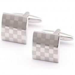 Manžetové knoflíčky se vzorem šachovnice 930002