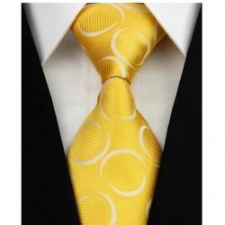 Hedvábná kravata žlutá NT0201