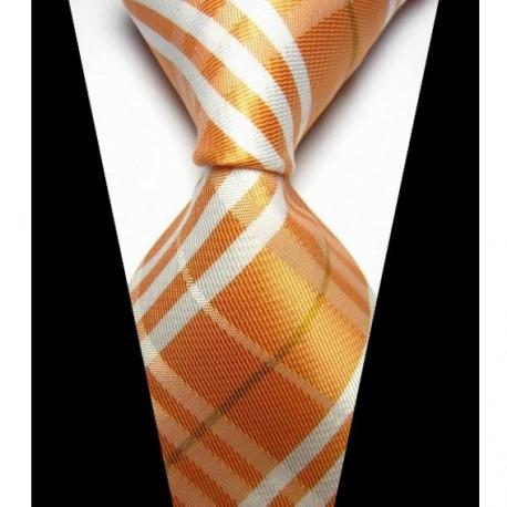 ac3a26450b3 Hedvábná kravata oranžová NT0431 - Wemay