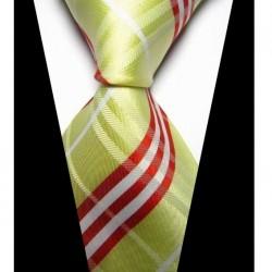 Hedvábná kravata žlutá NT0419