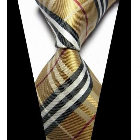 2a492f111d5 Hedvábná kravata hnědá NT0430 - Wemay