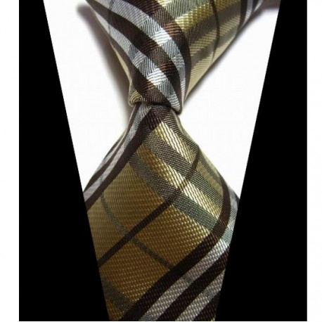 405d7e22396 Hedvábná kravata zlatá NT0425 - Wemay
