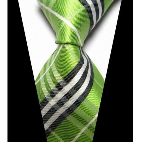 fd68d56ee3b Hedvábná kravata zelená NT0426