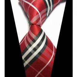 Hedvábná kravata červená NT0423