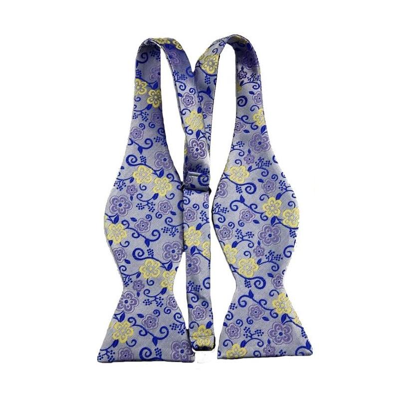 Modrý vázací motýlek s kapesníčkem - Wemay 4425b3fec4