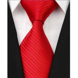 Hodvábna kravata červená NT0072