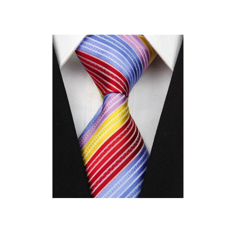 b59787afad3 Hedvábná kravata pruhovaná NT0103 - Wemay