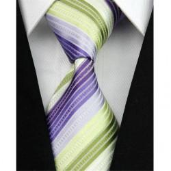 Hedvábná kravata pruhovaná NT0036