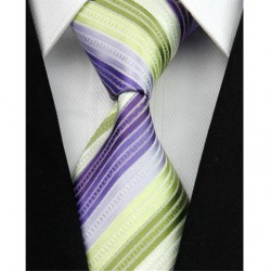 Hodvábna kravata pruhovaná NT0036