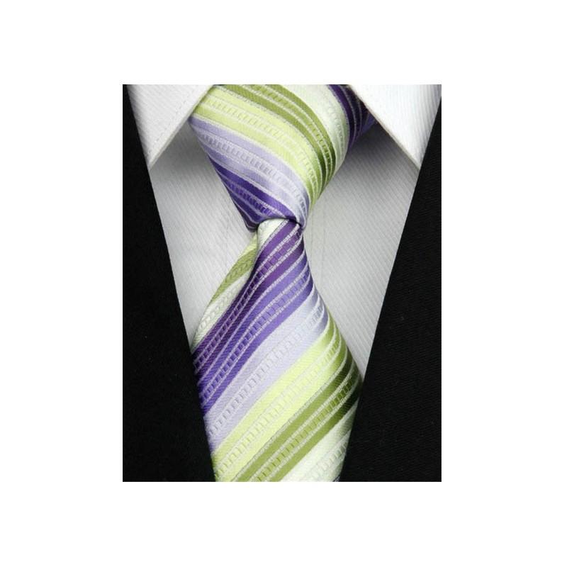 5491bafa2bb Hedvábná kravata pruhovaná NT0036 - Wemay