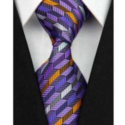 Hedvábná kravata fialová NT0069