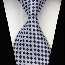 Hodvábna kravata biela NT0454