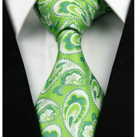 06c59d4007c Hedvábná kravata zelená NT0254 - Wemay
