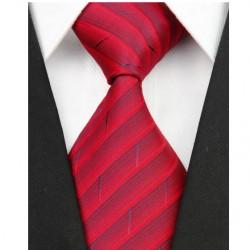 Hedvábná kravata červená NT0104