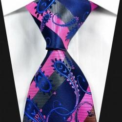 Hedvábná kašmírová kravata modrá NT0321