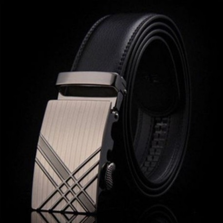 Pánský kožený pásek černý