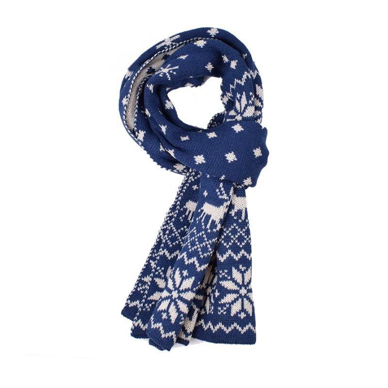 07a33986a51 Pánská zimní šála modrá - Wemay