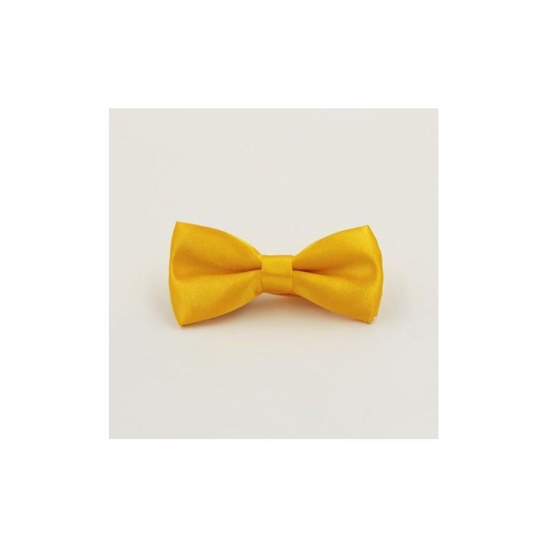 Dětský Žlutý motýlek s pevným uzlem - Wemay 1decab12b7