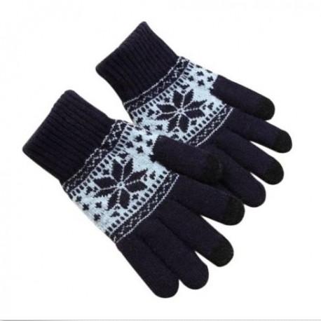 40737b0cd23 Zimní rukavice s norským vzorem černé - Wemay