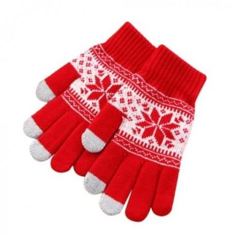 a20ef401253 Zimní rukavice s norským vzorem červené - Wemay