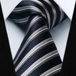 Prodloužená hedvábná kravata modrá