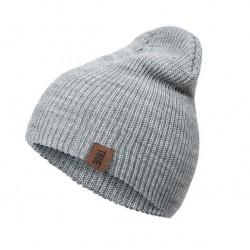 Bavlněná zimní čepice šedá