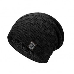 Pánská zimní pletená čepice černá