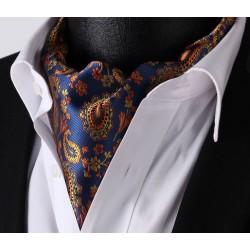 Pánský kravatový šátek Askot modrý