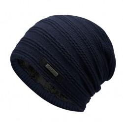 Pánská zimní pletená čepice modrá