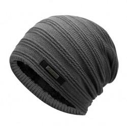 Pánská zimní pletená čepice šedá