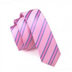 Pánská hedvábná Slim kravata růžová