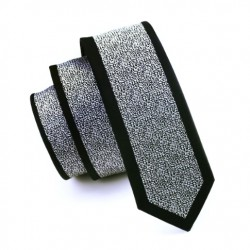Pánská hedvábná Slim kravata bílá