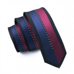 Pánská hedvábná Slim kravata pruhovaná