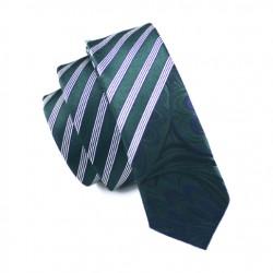 Pánská hedvábná Slim kravata zelená