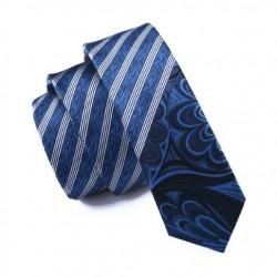 Pánská hedvábná Slim kravata modrá