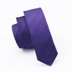 Pánská hedvábná Slim kravata fialová
