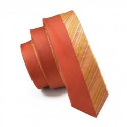 Pánská hedvábná Slim kravata oranžová
