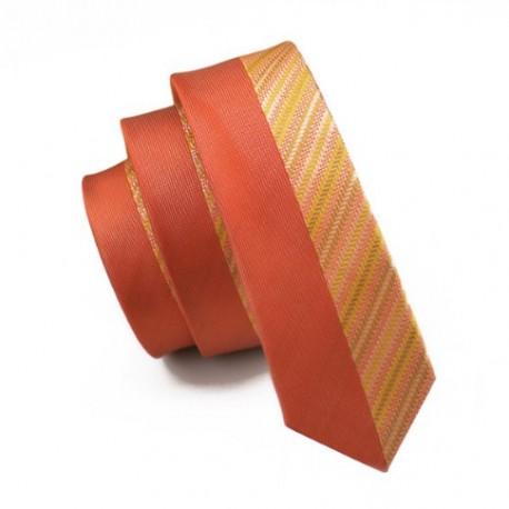 60ce9145e67 Pánská hedvábná Slim kravata oranžová - Wemay