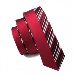 Pánská hedvábná Slim kravata červená