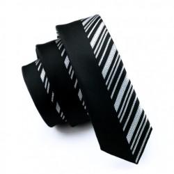 Pánská hedvábná Slim kravata černá