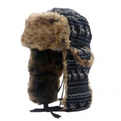 Beranice zimní čepice ušanka černá
