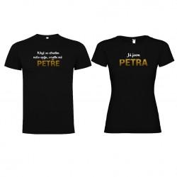 Trička pro páry Když se ztratím, vraťte mě Petře
