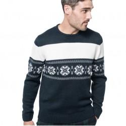 Pánský svetr s motivem hvězd KARIBAN