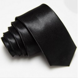 Úzká SLIM kravata černá
